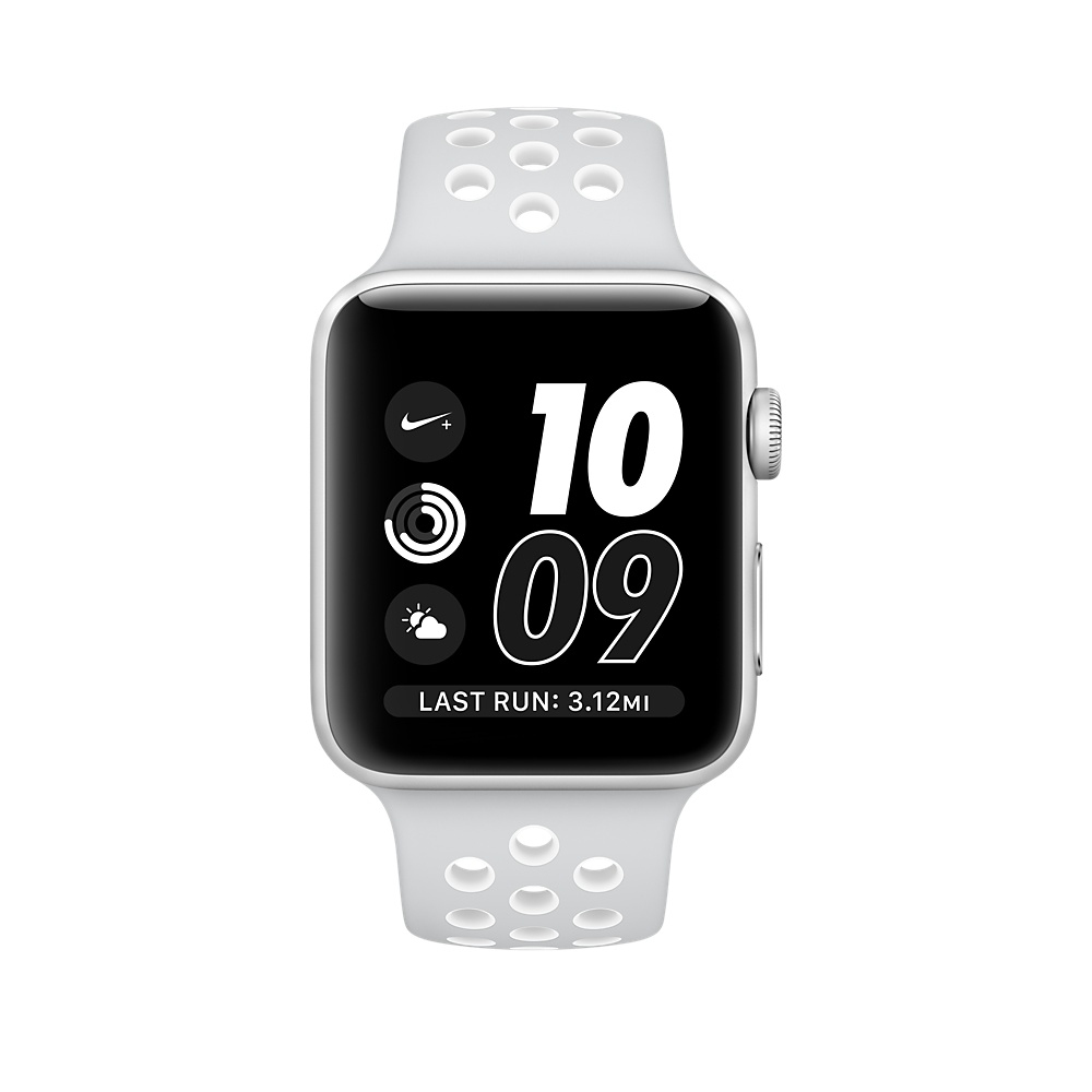 Apple Watch Nike+ 38 mm Silver Aluminum Case with Pure Platinum/White Nike Sport Band (MQ172) - 2