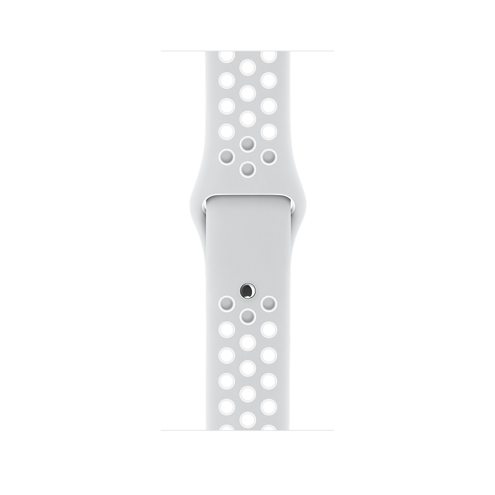 Apple Watch Nike+ 38 mm Silver Aluminum Case with Pure Platinum/White Nike Sport Band (MQ172) - 4
