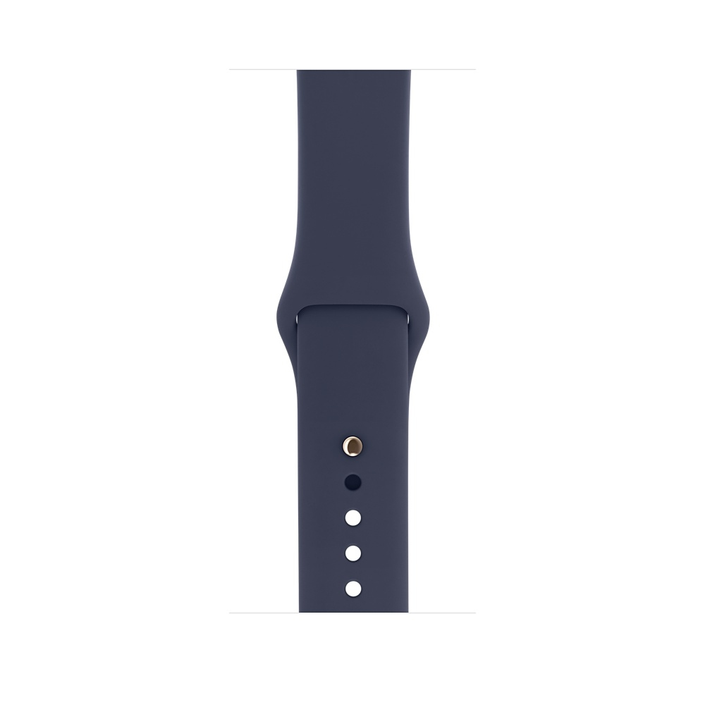 Apple Watch 38 mm Gold Aluminum Case with Midnight Blue Sport Band (MQ132) - 2