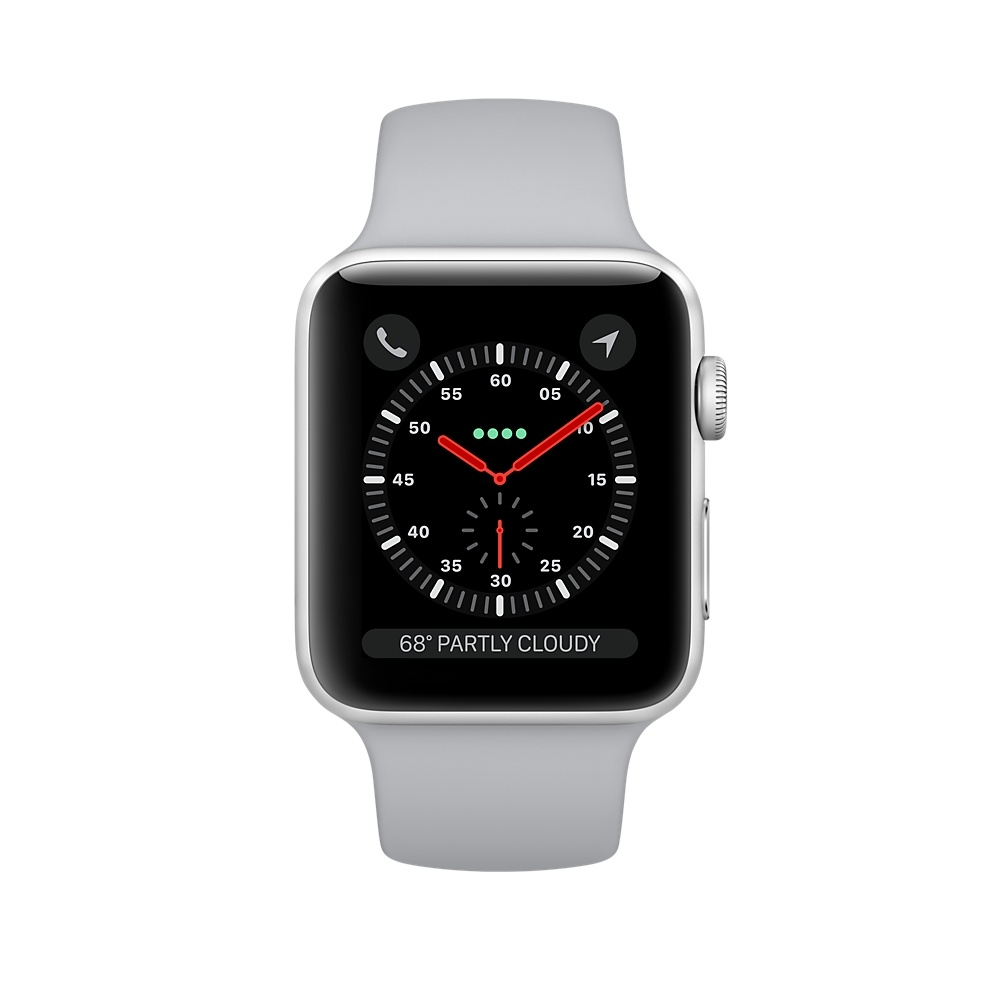 Apple Watch (GPS) 42mm Silver Aluminum Case with Fog Sport Band MQL02 - 1