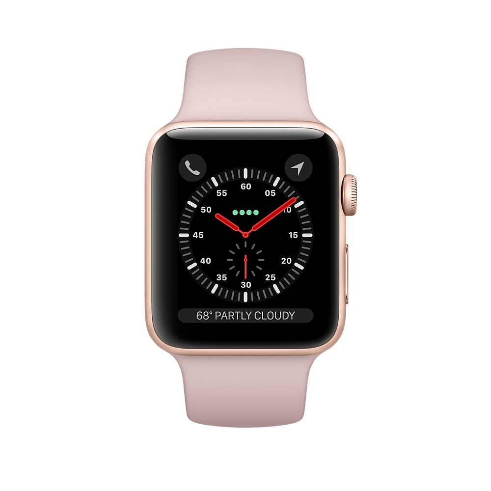 Apple Watch (GPS) 42mm Gold Aluminum Case with Pink Sand Sport Band MQL22 - 1