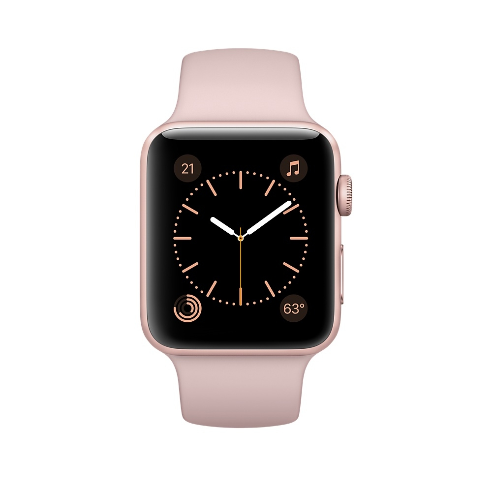 Apple Watch 42 mm Rose Gold Aluminum Case with Pink Sand Sport Band (MQ142) - 1