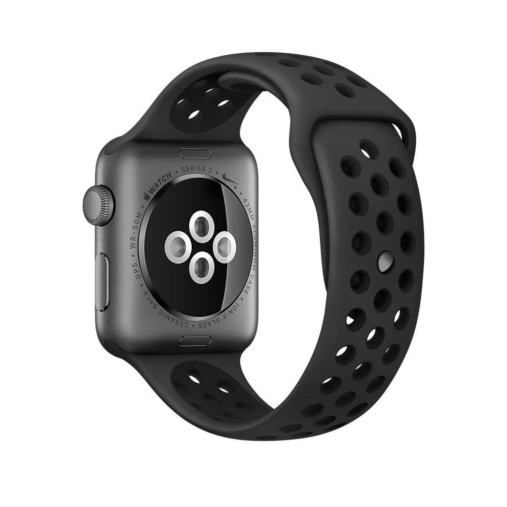 Apple Watch Nike+ 38 mm Space Gray Aluminum Case with Anthracite/Black Nike Sport Band (MQ162) - 3