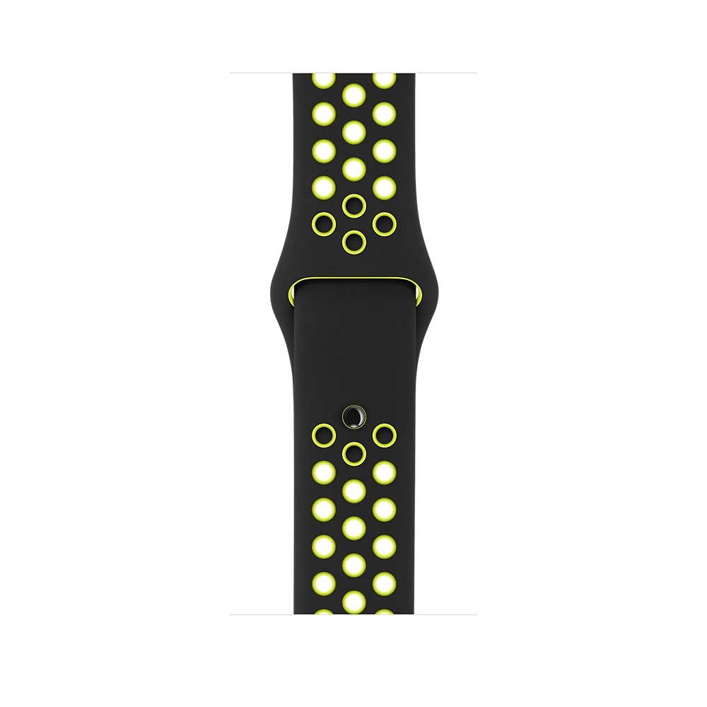 Apple Watch Nike+, 38 mm Space Gray Aluminum Case with Black/Volt Nike Sport Band MP082 - 2