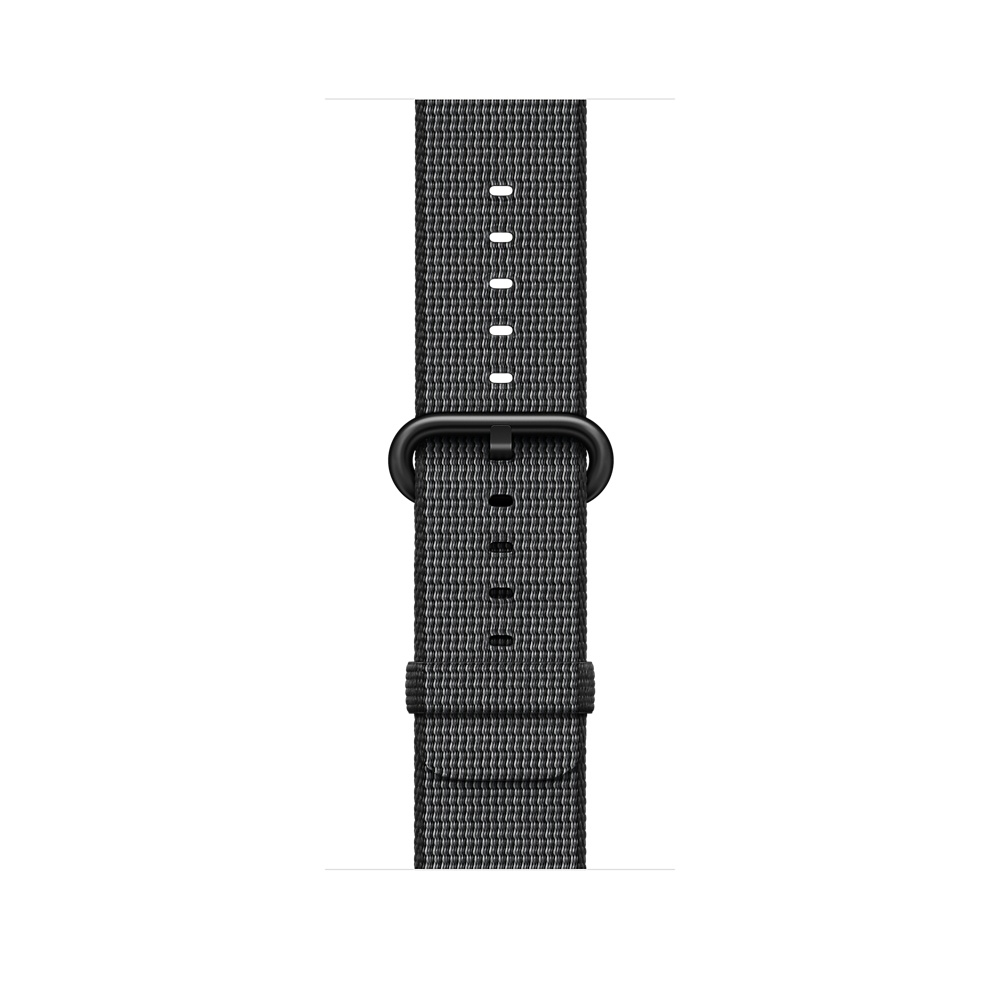 Apple Watch, 38 mm Space Gray Aluminum Case with Black Woven Nylon MP052 - 2