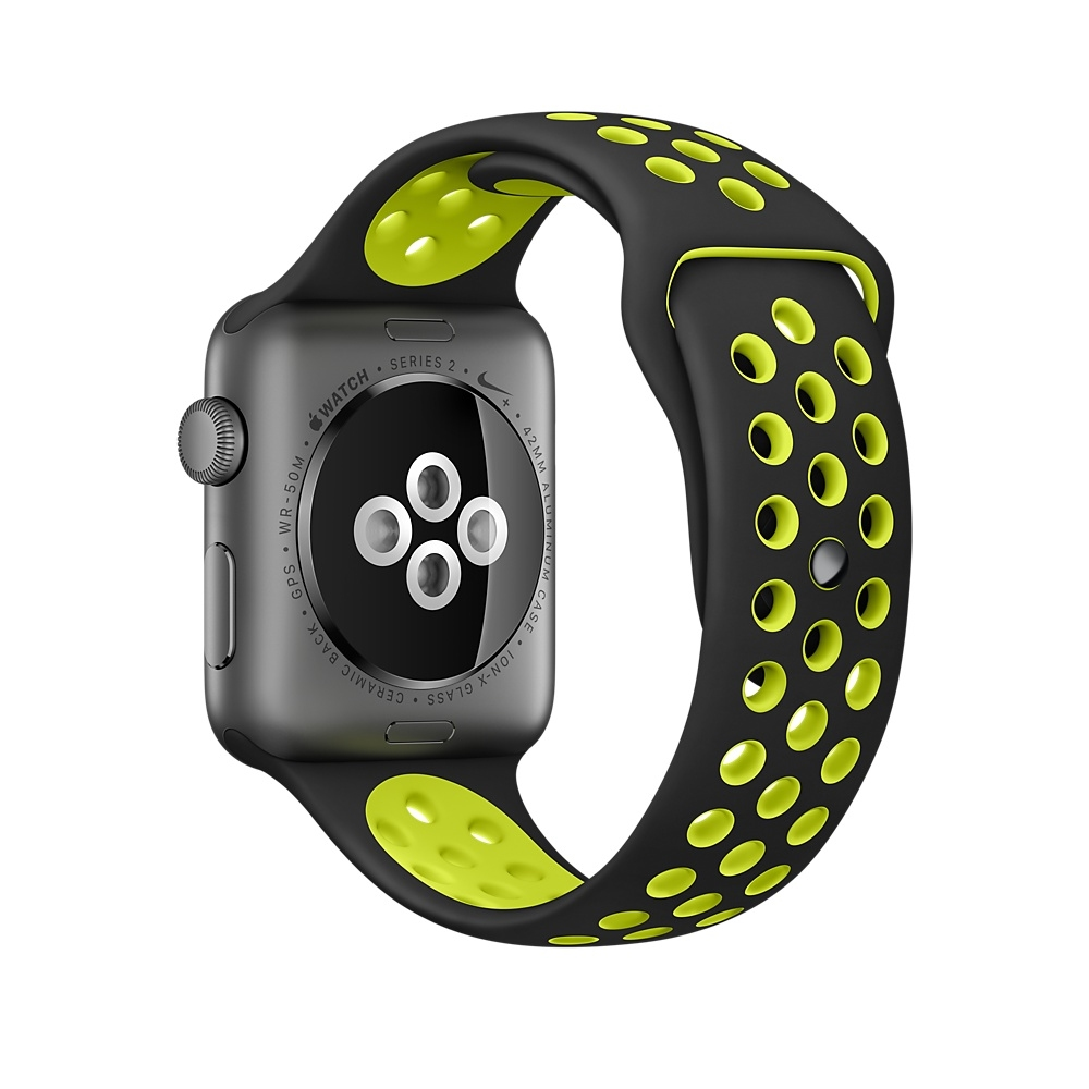 Apple Watch Nike+, 42 mm Space Gray Aluminum Case with Black/Volt Nike Sport Band MP0A2 - 3