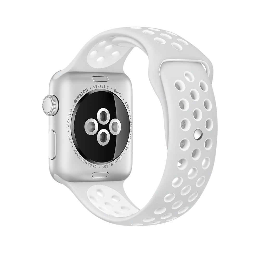 Apple Watch Nike+ 38 mm Silver Aluminum Case with Pure Platinum/White Nike Sport Band (MQ172) - 3