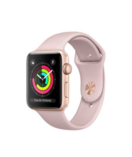 Apple Watch (GPS) 42mm Gold Aluminum Case with Pink Sand Sport Band MQL22