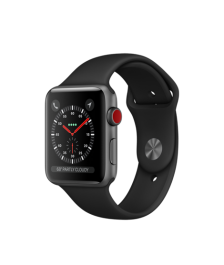 Apple Watch GPS + Cellular 42mm Space Gray Aluminum Case with Black Sport Band MQK22