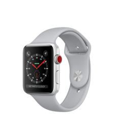 Apple Watch GPS + Cellular 42mm Silver Aluminum Case with Fog Sport Band MQK12