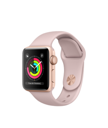Apple Watch (GPS) 38mm Gold Aluminum Case with Pink Sand Sport Band MQKW2